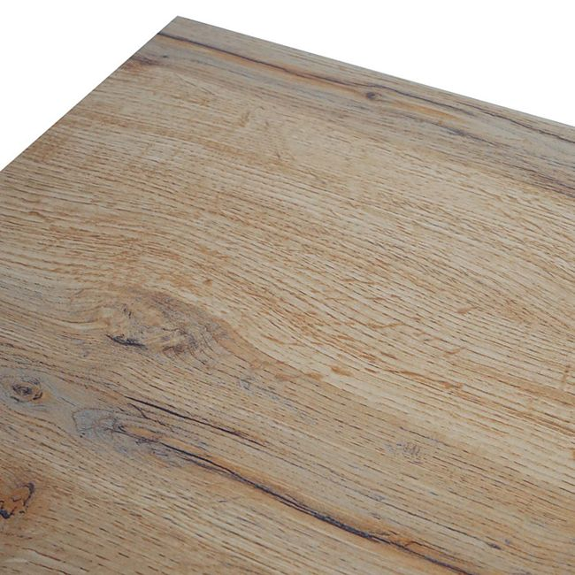 Esstisch MCW G86, Esszimmertisch Küchentisch Holztisch Tisch, Eiche Optik Metall Füße schwarz 190x95cm