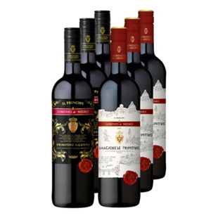 Lorenzo de' Medici Rotwein verschiedene Sorten 14,5 % vol 6 x 0,75 Liter - Bild 1