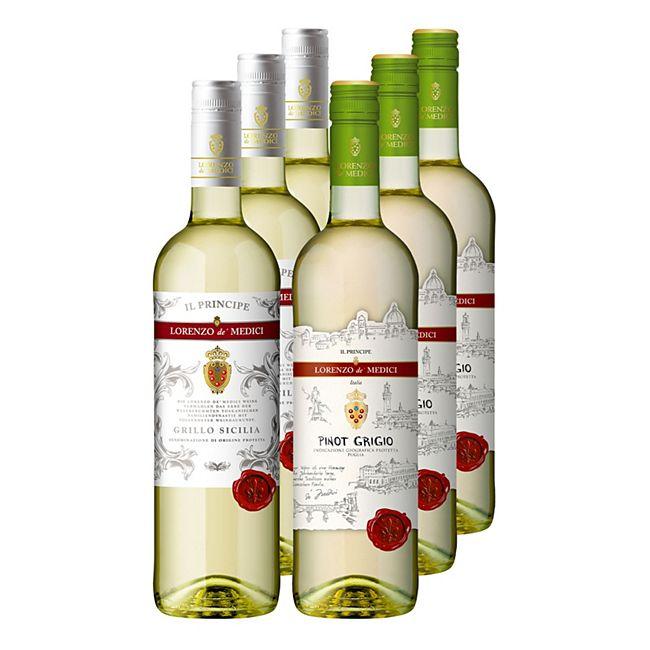 Lorenzo de' Medici Il Principe Weißwein verschiedene Sorten 12,5 % vol 6 x 0,75 Liter - Bild 1