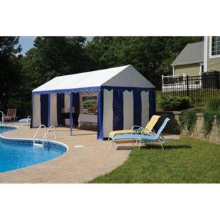 ShelterLogic Partyzelt und Pavillon weiß/blau, 305x610 cm - Bild 1