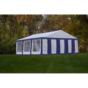 ShelterLogic Partyzelt und Pavillon weiß/blau, 610x610 cm - Bild 1