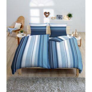 Bettwäsche 4-tlg. blau - Bild 1
