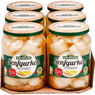 Spreewaldhof Senfgurken 420 g, 6er Pack - Bild 1
