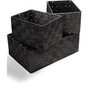 Dekor Ordnungsboxen 4er Set schwarz - Bild 1