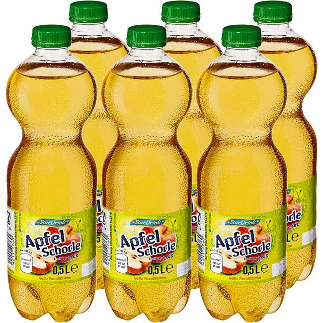 Stardrink Apfelschorle 0,5 Liter, 6er Pack - Bild 1