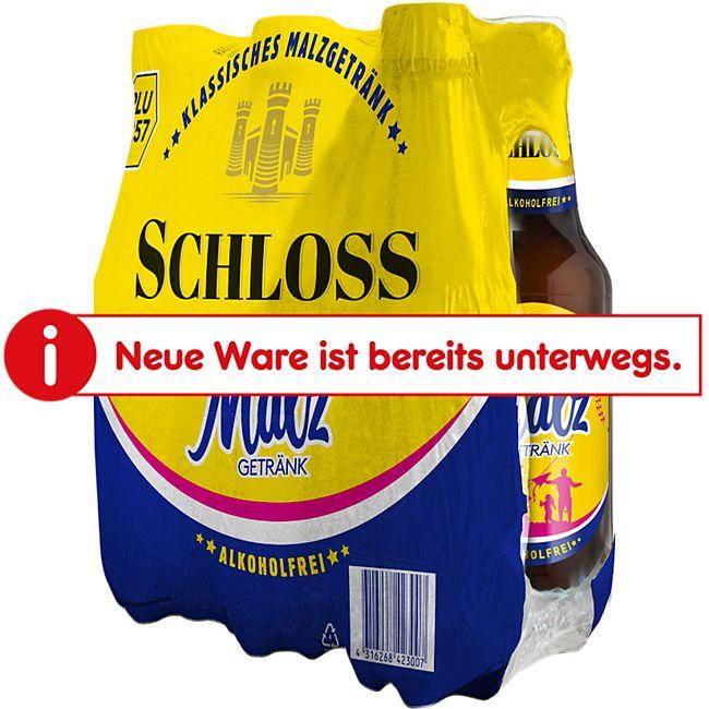 Schloss Malzgetränk alkoholfrei 0,5 Liter, 6er Pack - Bild 1