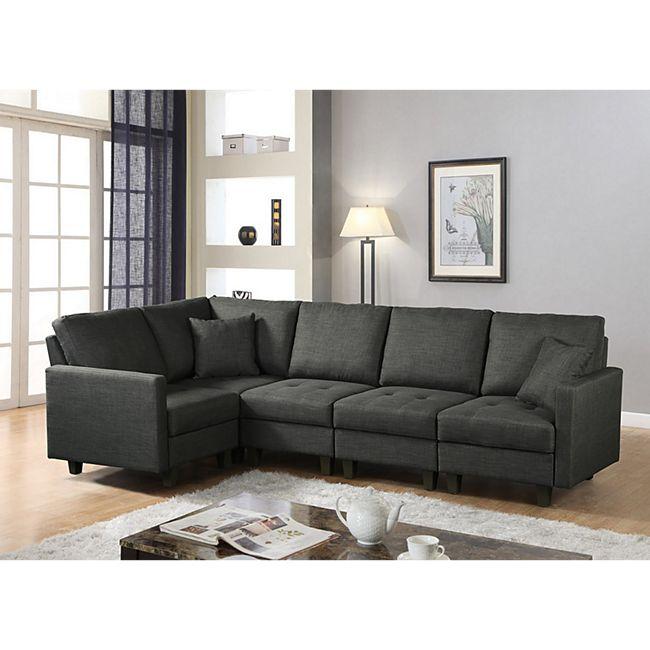 Home Deluxe Polsterecke Neapel Sofa rechts - Bild 1