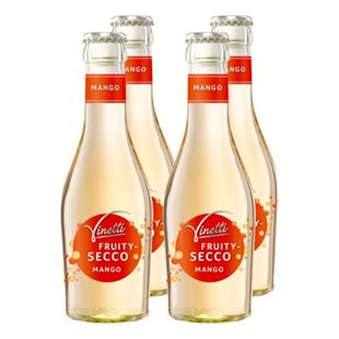 Vinetti Fruitysecco Mango weinhaltiger Cocktail 6,9 % vol 200 ml, 4er Pack - Bild 1