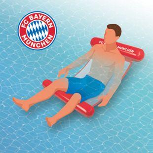 FC Bayern München Wasserhängematte mit Tragefunktion 119cm rot - Bild 1