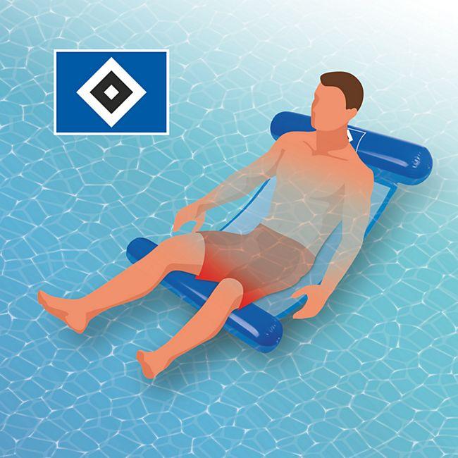 Hamburger SV Wasserhängematte mit Tragefunktion 119cm blau - Bild 1
