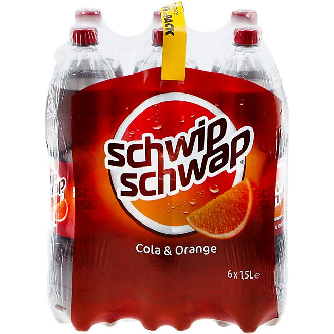 Schwip Schwap Cola & Orange 1,5 Liter, 6er Pack - Bild 1