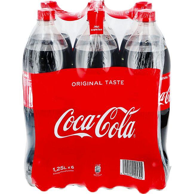 Coca Cola 1,25 Liter, 6er Pack - Bild 1