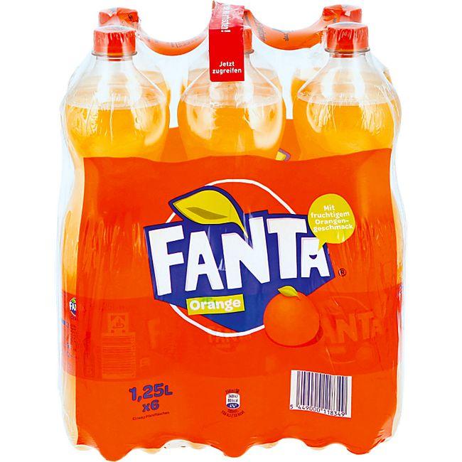 Fanta 1,25 Liter, 6er Pack - Bild 1