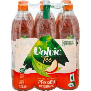 Volvic Tee Creation Pfirsich 1,5 Liter, 6er Pack - Bild 1