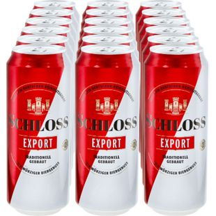 Schloss Export 5,2 % vol 0,5 Liter Dose, 18er Pack - Bild 1