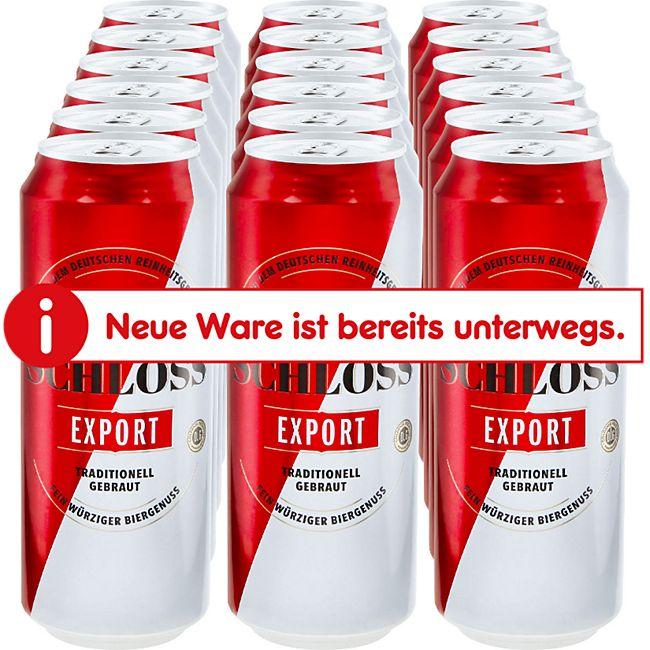 Schloss Export 5,2 % vol 0,5 Liter Dose, 18er Pack - Bild 1