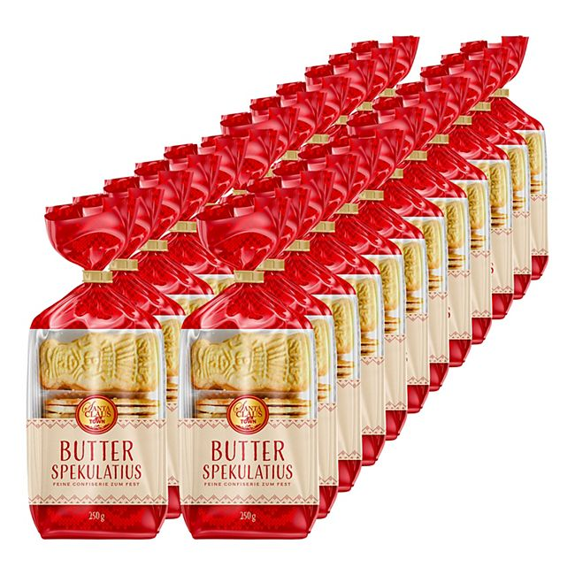 Santa Claus in Town Butterspekulatius 250 g, 24er Pack - Bild 1