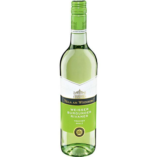 Villa am Weinberg Weißburgunder Rivaner Qualitätswein 11,5 % vol 0,75 Liter - Bild 1