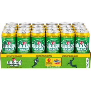 Uludag Gazoz Limonade 0,33 Liter Dose, 24er Pack - Bild 1