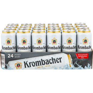Krombacher Pils 4,8 % vol 0,5 Liter Dose, 24er Pack - Bild 1