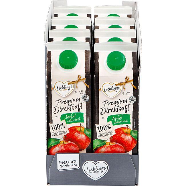 Lieblings Premium Apfel-Direktsaft naturtrüb 1 Liter, 8er Pack - Bild 1