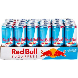 Red Bull Energy Drink Sugarfree 0,355 Liter Dose, 24er Pack - Bild 1