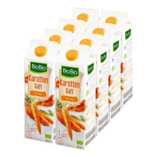 BioBio Karottensaft mit Honig 1 Liter, 8er Pack - Bild 1