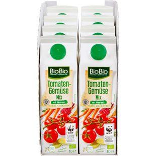 BioBio Tomaten-Gemüse-Mix 1 Liter, 8er Pack - Bild 1