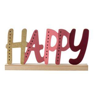 LED Holz-Schriftzug Happy - Bild 1