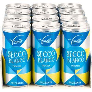 Vinetti Secco Bianco Frizzante 10,0 % vol 200 ml, 12er Pack - Bild 1