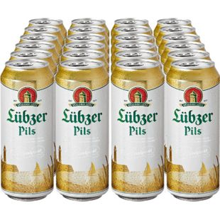 Luebzer Pils 4,9 % vol 0,5 Liter Dose, 24er Pack - Bild 1