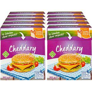 Cheddary Schmelzkäse Scheiben 250 g, 10er Pack - Bild 1