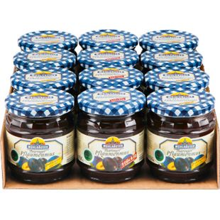 Mühlhäuser Thüringer Pflaumenmus verschiedene Sorten 450 g, 12er Pack - Bild 1