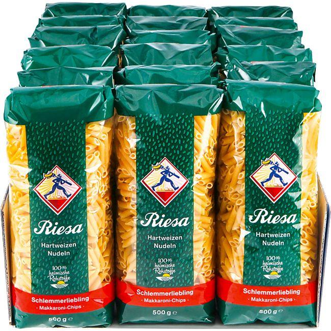 Riesa Schlemmerliebling Makkaroni-Chips 500 g, 18er Pack - Bild 1