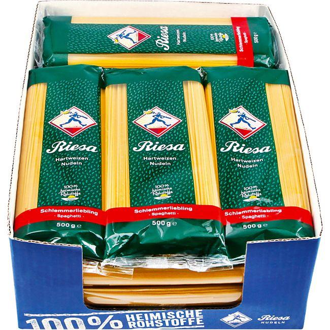 Riesa Schlemmerliebling Spaghetti 500 g, 20er Pack - Bild 1
