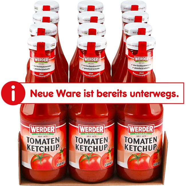 Werder Tomatenketchup 450 ml, 12er Pack - Bild 1