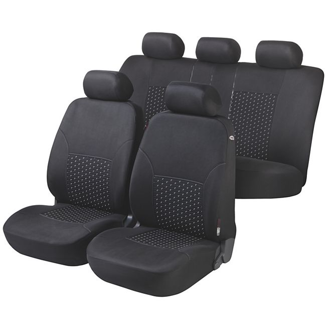 Autositzbezug DotSpot grau schwarz Premium Komplett Set - Bild 1