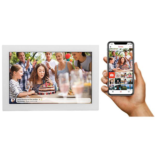 DENVER PFF-1017 digitaler Bilderrahmen mit FRAMEO Photo Software weiß - Bild 1