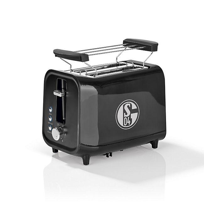 S04 Toaster mit Soundfunktion 800W schwarz/silber - Bild 1