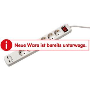 BTA Steckdosenleiste 6-fach mit 2x USB weiß - Bild 1