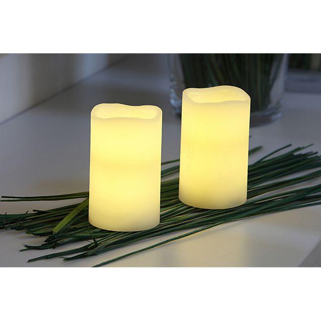 LED Stumpenkerzen 2er groß - Bild 1