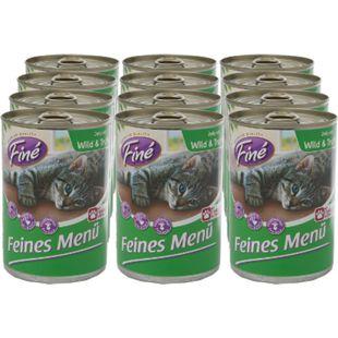 Finé Katzennahrung Wild & Truthahn 400 g, 12er Pack - Bild 1