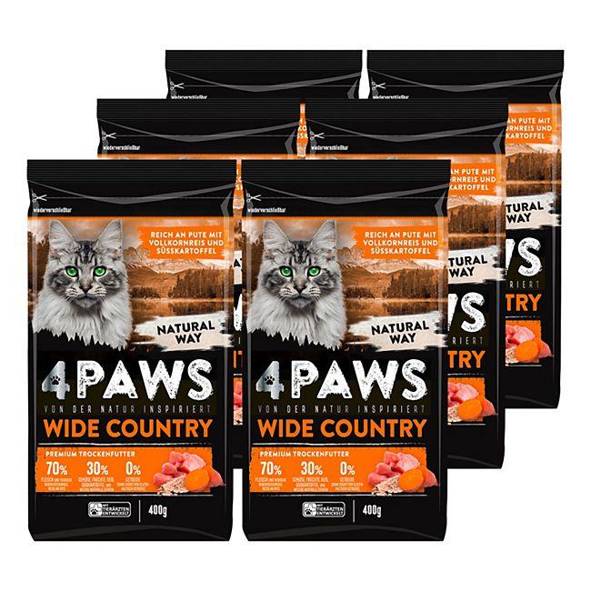 4 PAWS Katzentrockennahrung Pute 400 g, 6er Pack - Bild 1