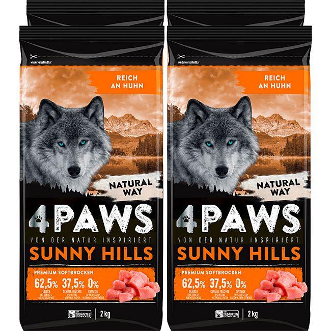 4 PAWS Hundetrockenfutter Huhn 2 kg, 4er Pack - Bild 1