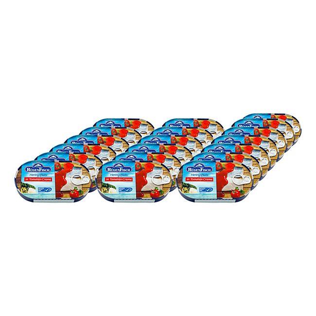 Rügenfisch Heringsfilet Tomate MSC 200 g, 19er Pack - Bild 1