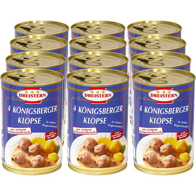 Dreistern Königsberger Klopse 400 g, 12er Pack - Bild 1
