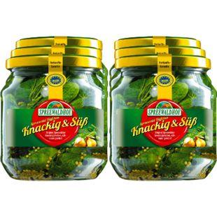 Spreewaldhof Gewürzgürkchen knackig & süß 300 g, 6er Pack - Bild 1