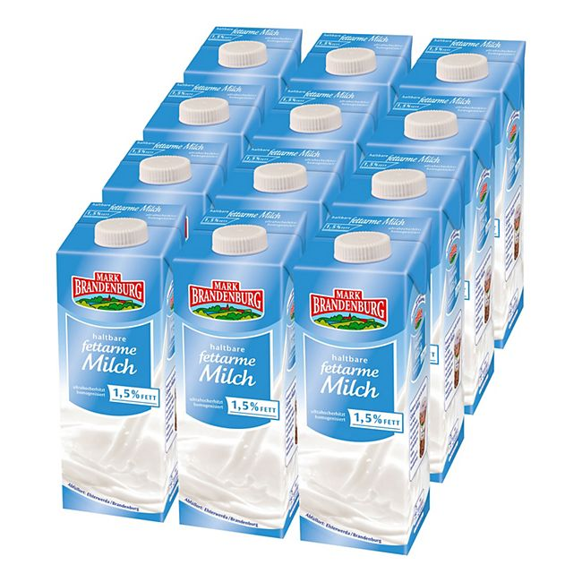 Mark Brandenburg H-Milch 1,5% 1 Liter, 12er Pack - Bild 1