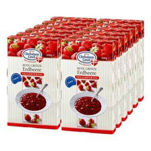 Christians Grod Rote Grütze Erdbeere 500 g, 12er Pack - Bild 1