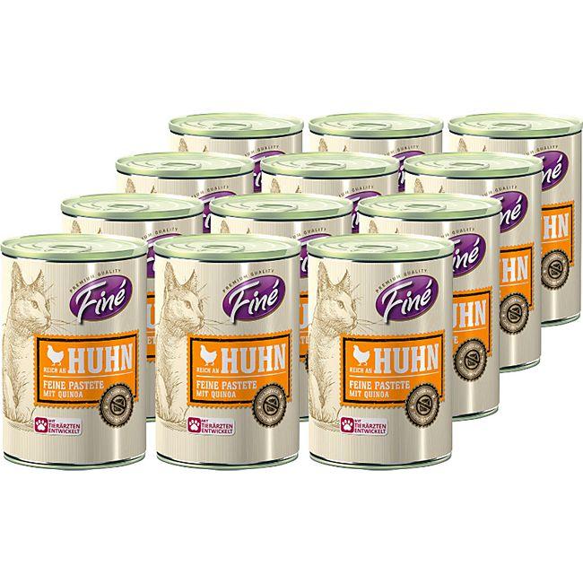 Fine Katzennahrung Pastete Huhn 400 g, 12er Pack - Bild 1